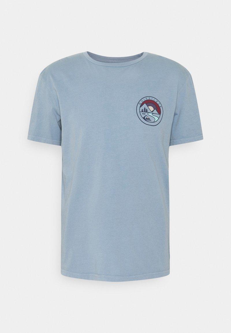 Quiksilver - MOUNTAIN VIEW - Print T-shirt - citadel blue