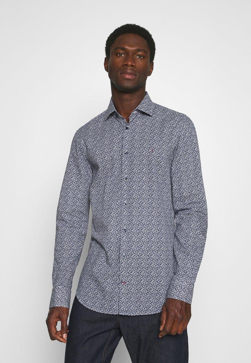Tommy Hilfiger Tailored - LEAVE PRINT CLASSIC SLIM SHIRT - Shirt - blue