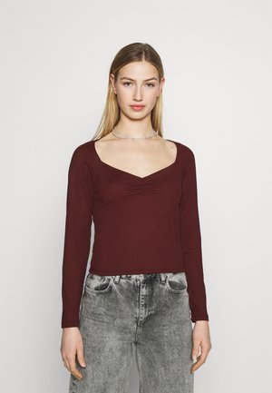 MONIQUE - Long sleeved top - wine red