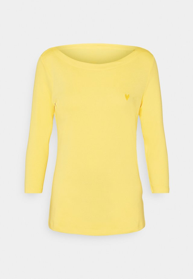 SOLID BOAD NECK - Top s dlouhým rukávem - smooth yellow