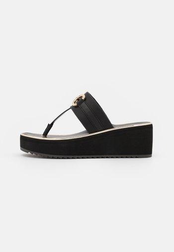 GWALIDIA - T-bar sandals - black