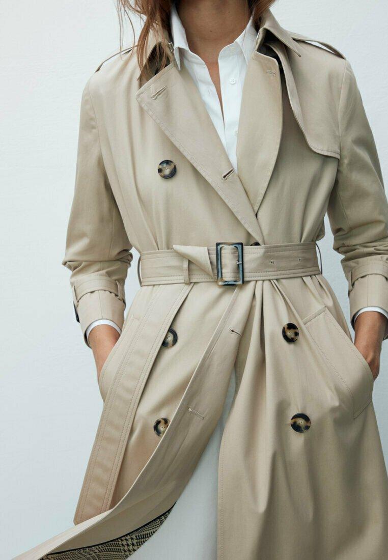 Massimo Dutti - Trenchcoat - beige