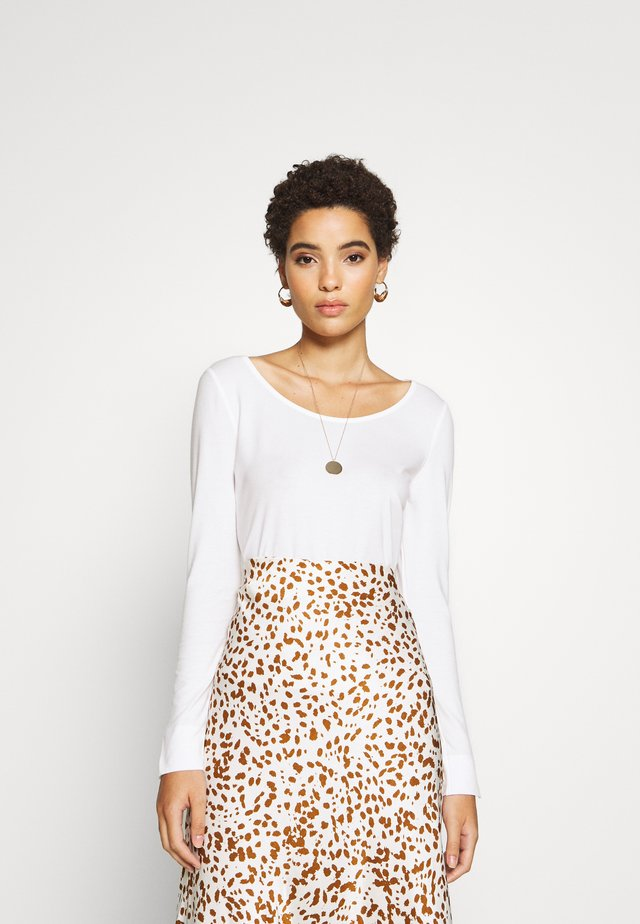 ROUND NECK - Long sleeved top - white