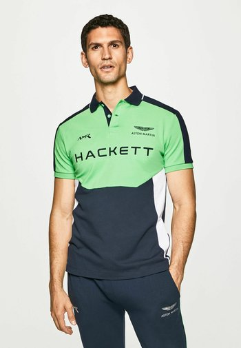 AMR MULTI SS - Polo shirt - green/navy
