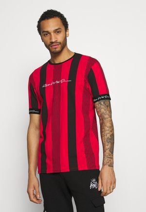 VEDTON STRIPE TEE - Print T-shirt - red/black