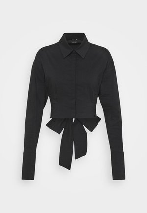 MEYA OPEN BACK SHIRT - Button-down blouse - black
