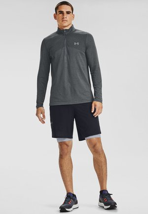 SEAMLESS 1/2 ZIP - Longsleeve - pitch gray