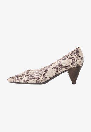 WIDE FIT FLISS CONE HEEL COURT - Classic heels - grey