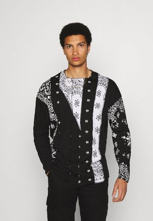 CUT AND SEW PAISLEY  - Long sleeved top - black