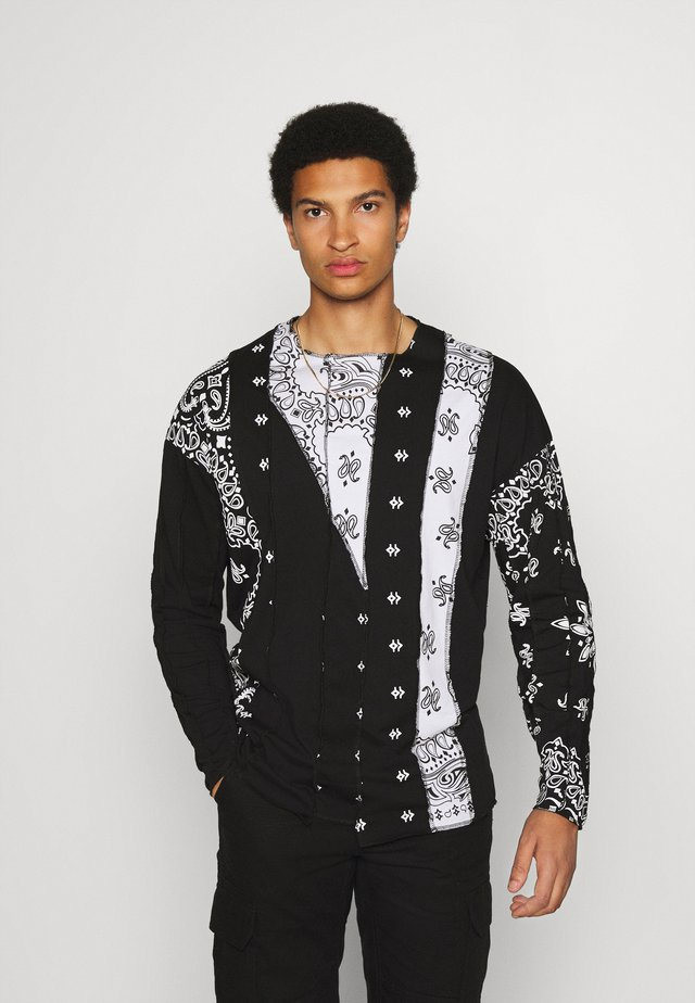 CUT AND SEW PAISLEY  - Topper langermet - black