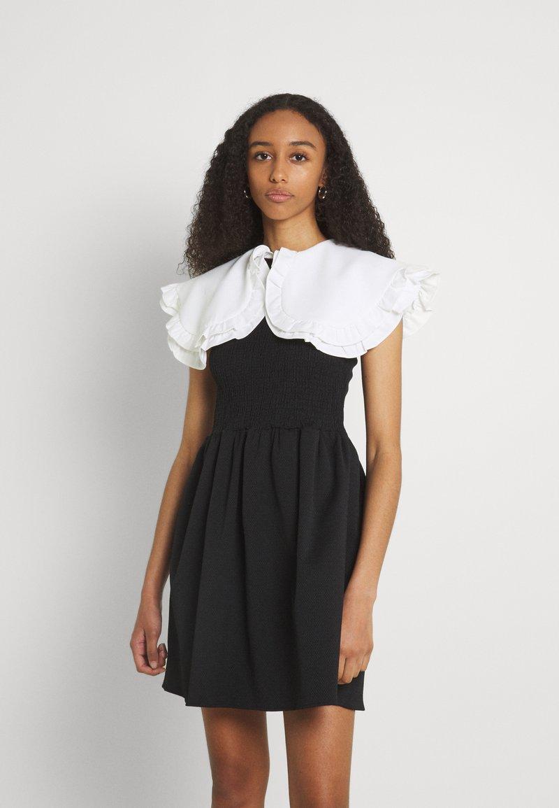 Sister Jane - POSTCARD CONFESSIONS MINI DRESS - Day dress - black