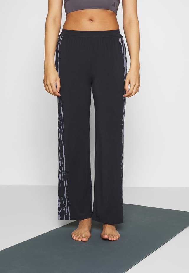 PANTS WIDE GALON STRIPE - Pantaloni sportivi - midnight blue