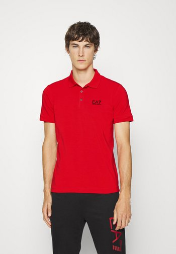 Polo shirt - red/black