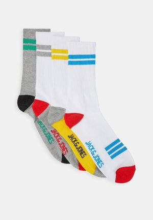 JACBASIC TENNIS SOCK 4 - Ponožky - hawaiian ocean/light grey melange/habarnero gold
