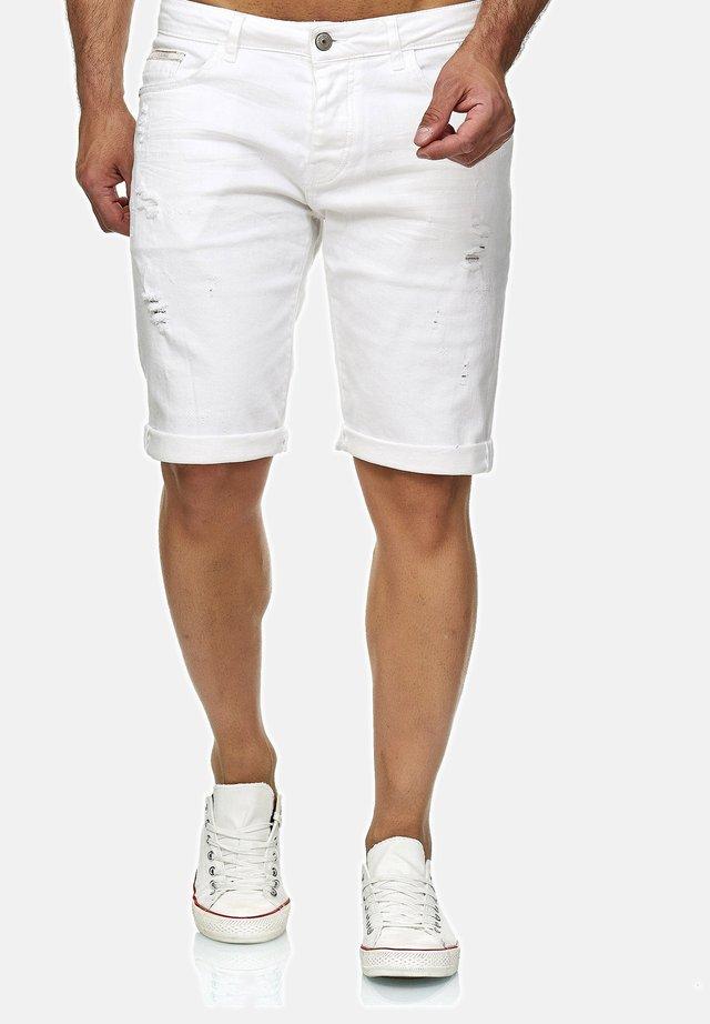 LEXINGTON - Denim shorts - weiß