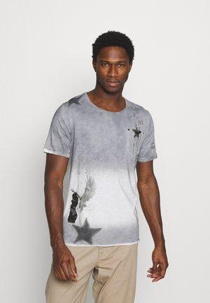 NASHVILLE ROUND - T-shirt con stampa - silver