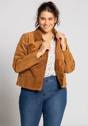 Leather jacket - tabac clair