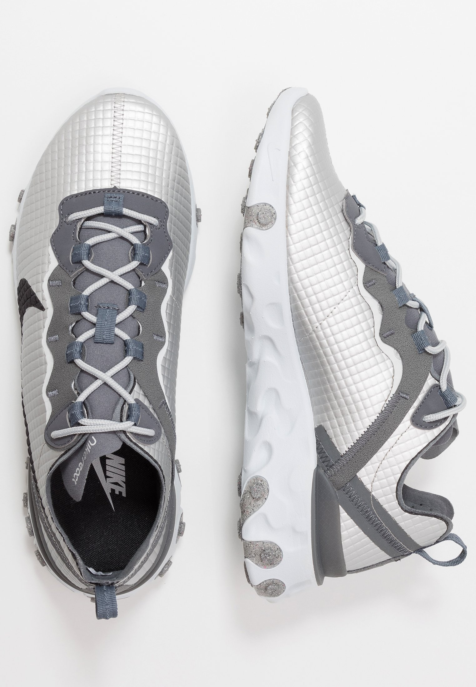 REACT ELEMENT 55 Sneakers laag metallic silverblackpure platinumdark grey