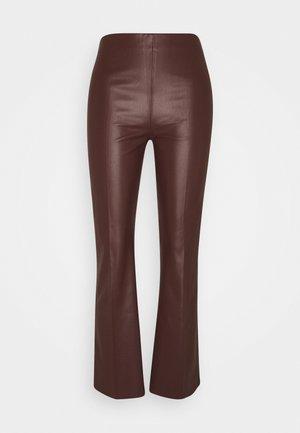 KAYLEE KICKFLARE PANTS - Trousers - rum raisin