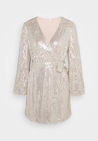 Glamorous Petite - NECK WRAP DRESS - Cocktail dress / Party dress - nude silver - 4