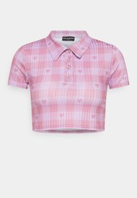 NEW girl ORDER - HEART GINGHAM - Print T-shirt - purple - 0
