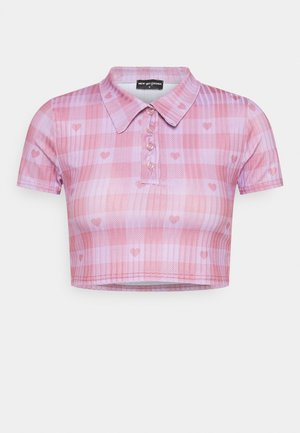 HEART GINGHAM - Print T-shirt - purple