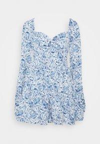 Missguided - PAISLEY BUTTON TRHOUGH SWEETHEART DRESS - Denní šaty - blue - 0
