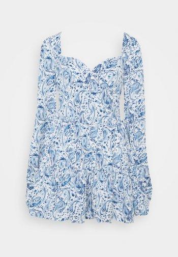 PAISLEY BUTTON TRHOUGH SWEETHEART DRESS