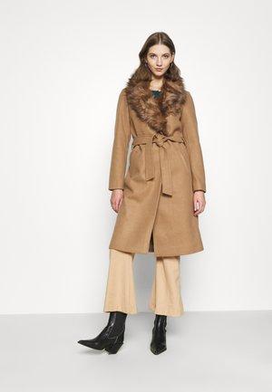 ONLBERNA WRAP COAT - Classic coat - toasted coconut