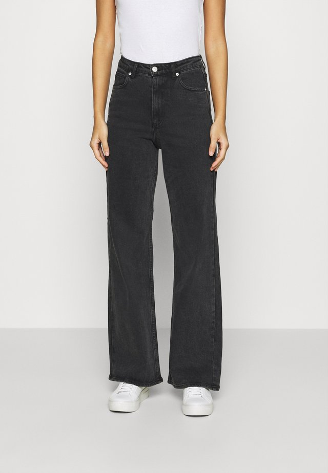 ROUSERS FAIZA - Flared Jeans - grey