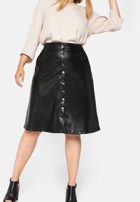 Sheego - A-line skirt - schwarz - 4