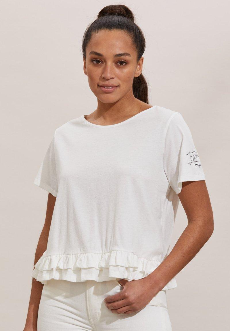 Odd Molly - SALLY - Print T-shirt - light chalk