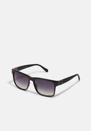 UNISEX - Sunglasses - shiny black/green mirror