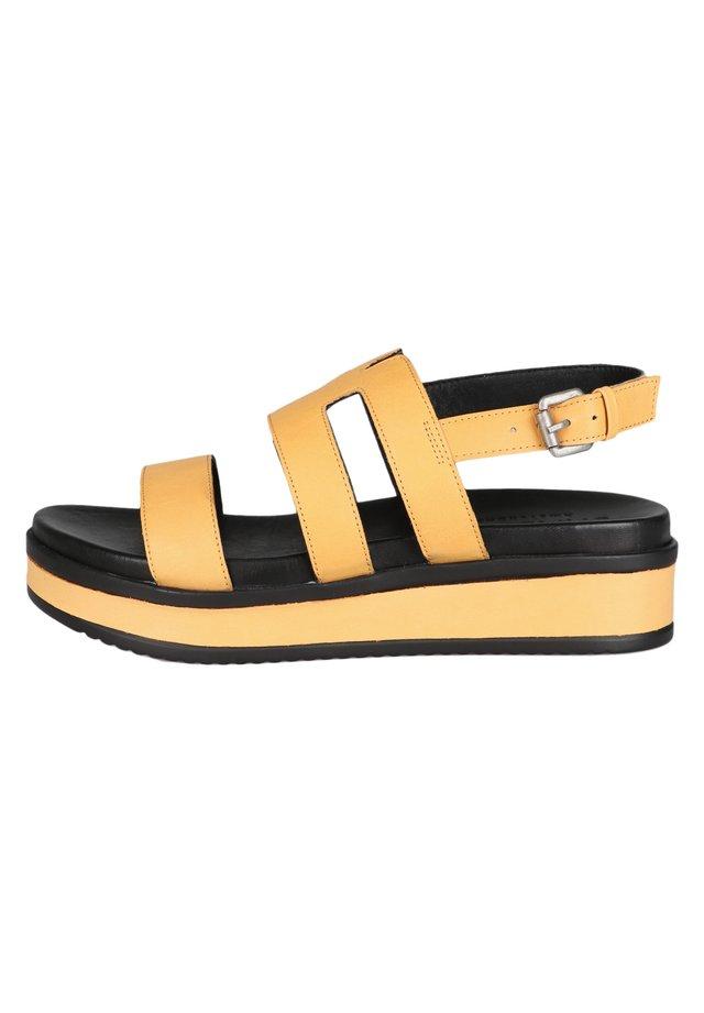Sandali con plateau - yellow