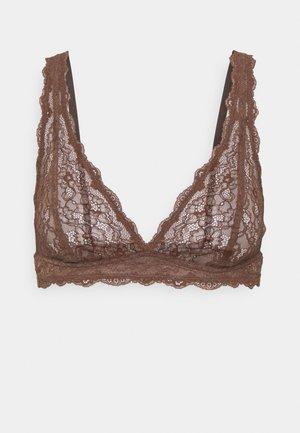 Triangle bra - brown dark
