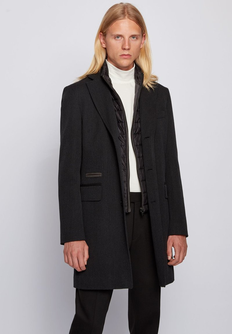 BOSS - NIDO - Classic coat - dark grey