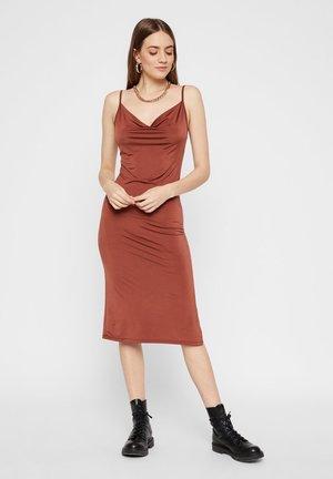 Shift dress - copper brown
