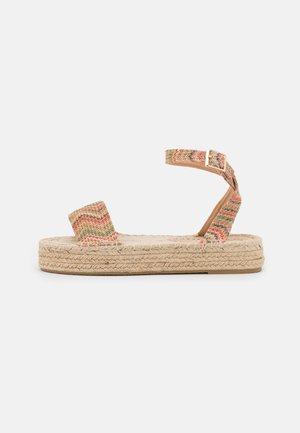 FLATFORM - Korkeakorkoiset sandaalit - multicolor