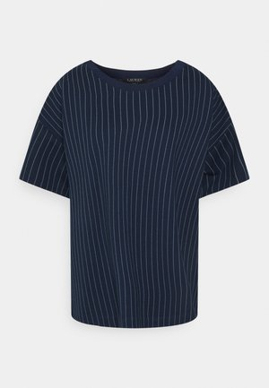 LAFREYA SHORT SLEEVE - Jednoduché triko - french navy/pale cream