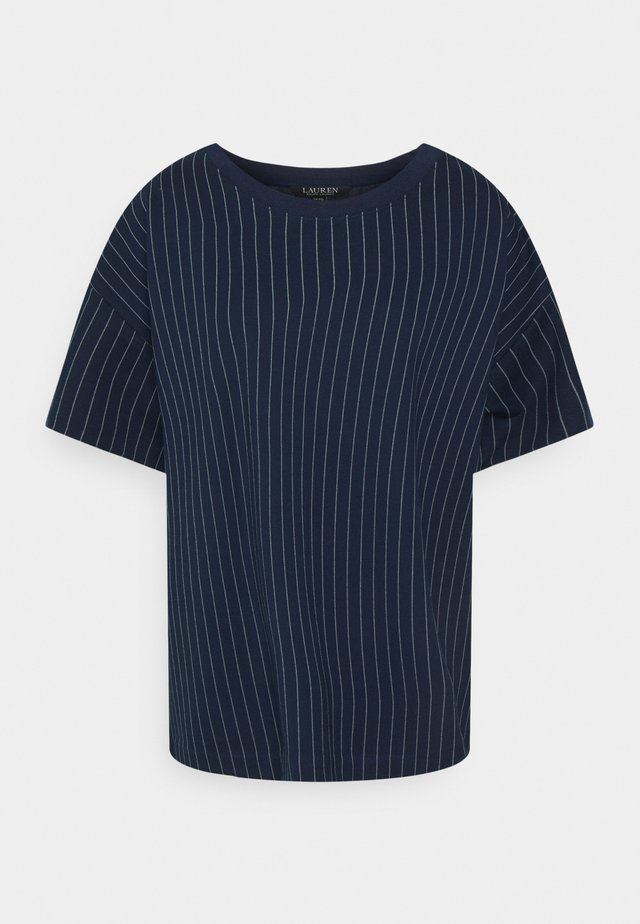 LAFREYA SHORT SLEEVE - T-shirt basique - french navy/pale cream