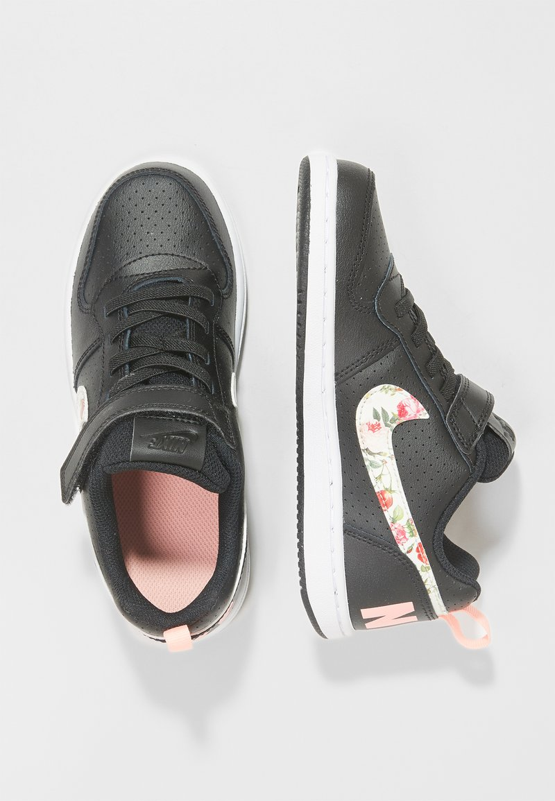 Nike Sportswear - COURT BOROUGH LOW - Trainers - black/pale ivory/pink tint