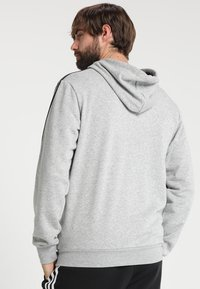 adidas Performance - Mikina s kapucí - medium grey heather/black - 2