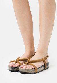Oa non fashion - T-bar sandals - marmo fango - 0