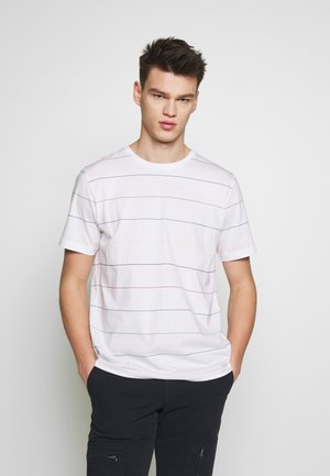 SHORT SLEEVE STRIPE - Print T-shirt - white