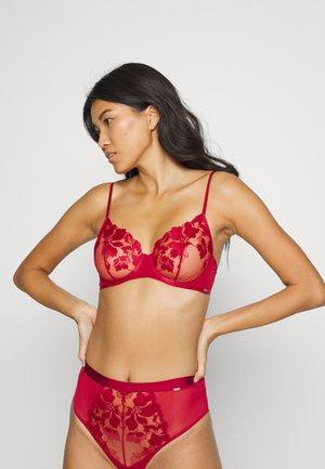 Underwired bra - dark dusty red