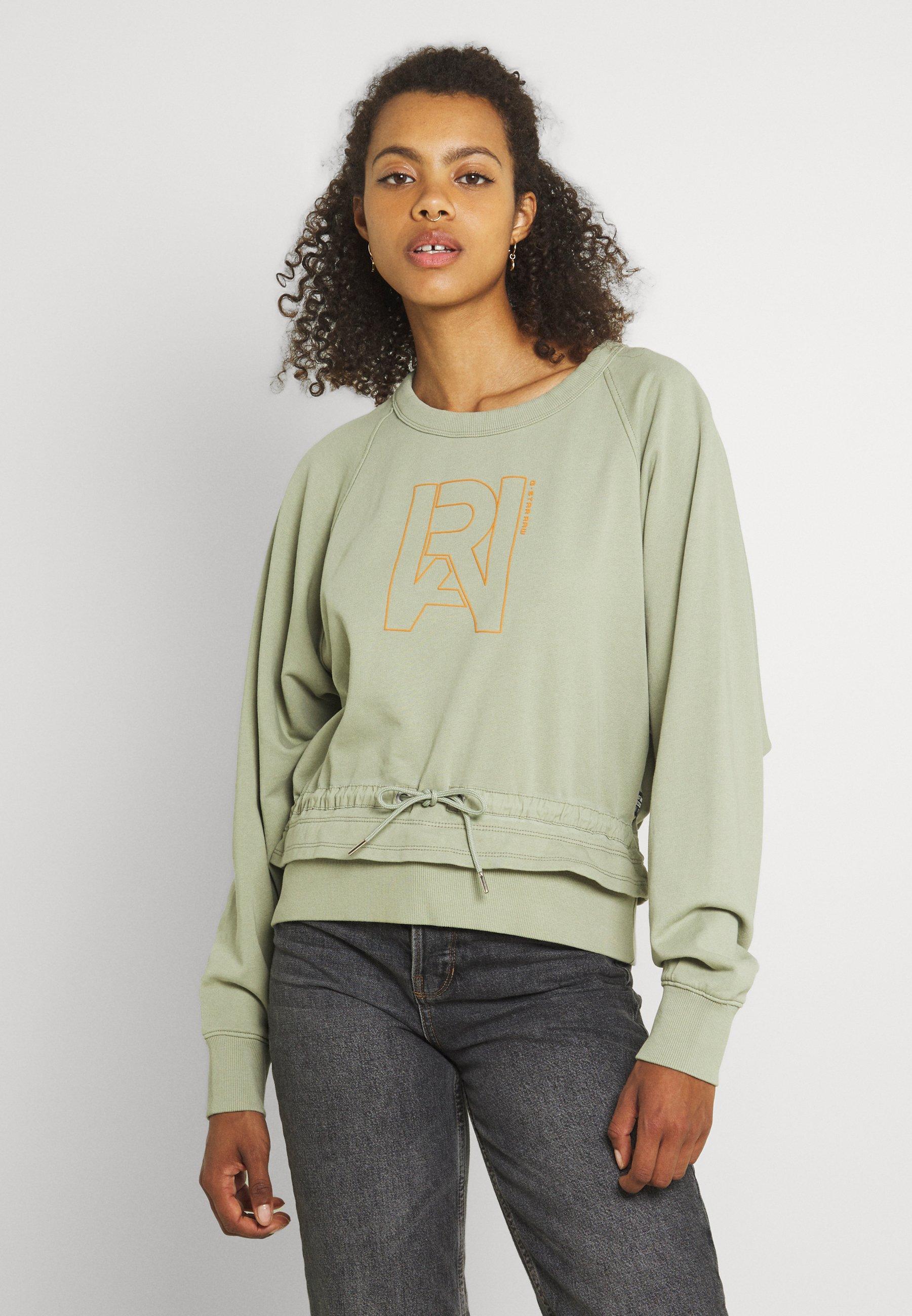 Women RAW DRAWCORD RAGLAN CREWNECK - Sweatshirt