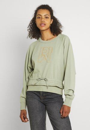 RAW DRAWCORD RAGLAN CREWNECK - Sweater - grege green