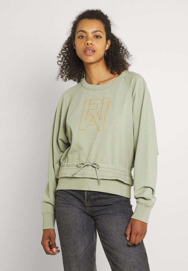 RAW DRAWCORD RAGLAN CREWNECK - Sweatshirt - grege green