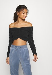 adidas Originals - CROP - Long sleeved top - black - 0