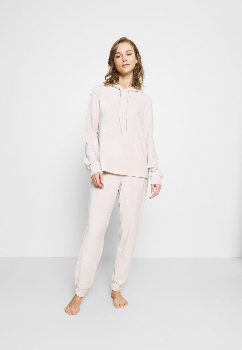 Dorothy Perkins - OATMEAL HOODED TWOSIE SET - Pyjamas - oatmeal